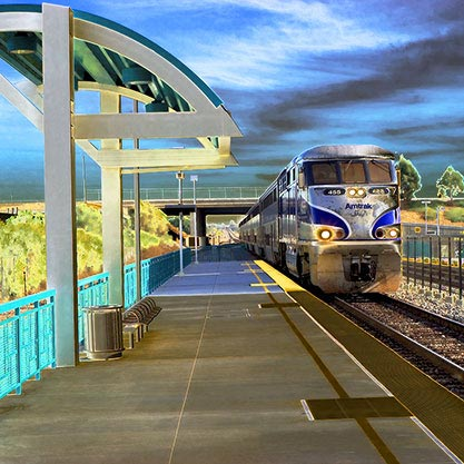 Bill Agee: Amtrak Station