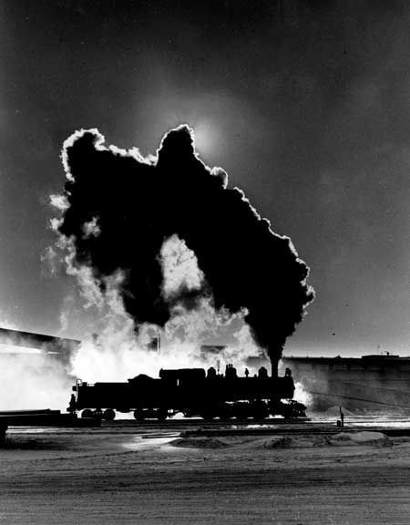Steam locomotive silhouette by John Gruber