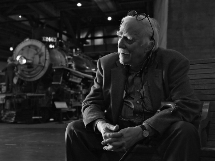 Photographer David Plowden at California State Railroad Museum. Photo by Scott Lothes