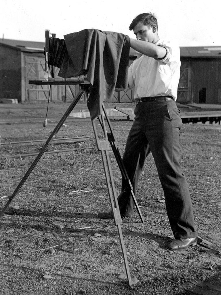 Donald W. Furler with 8x10 view camera