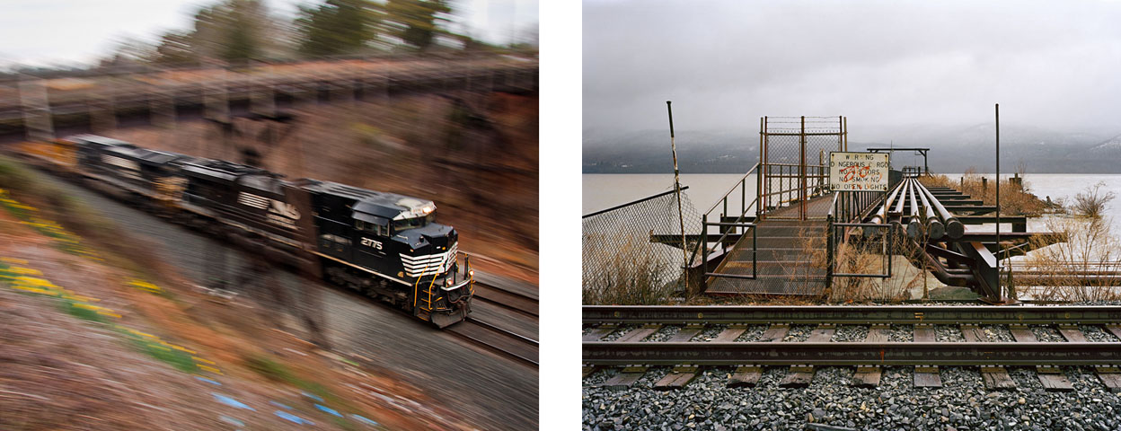 Photographs by Peter Lewis (left) and John Sanderson, the Center for Railroad Photography & Art's 2013 scholarship winners.