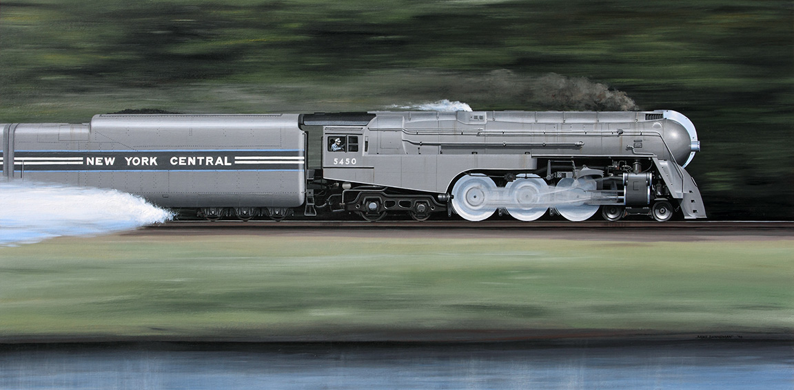 Mike Danneman, New York Central Hudson taking water on the fly